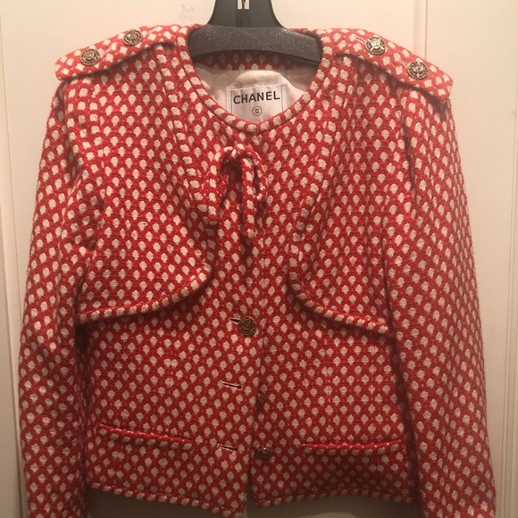 CHANEL Jackets & Blazers - Chanel red and white jacket